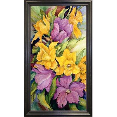 'Tulips And Daffodils' Print Format: Black Wood Grande Framed Paper