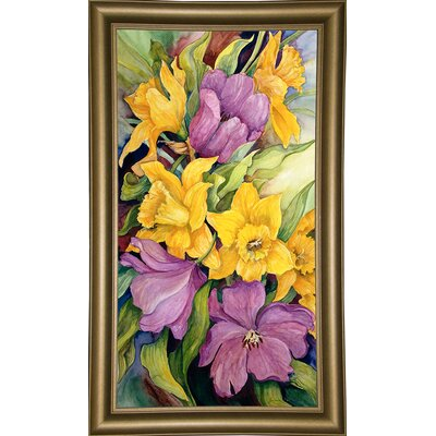 'Tulips And Daffodils' Print Format: Bistro Gold Framed Paper