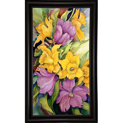 'Tulips And Daffodils' Print Format: Bistro Expresso Framed Paper