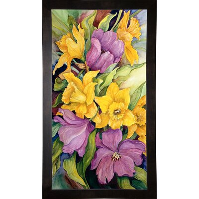 'Tulips And Daffodils' Print Format: Cafe Espresso Wood Framed Paper