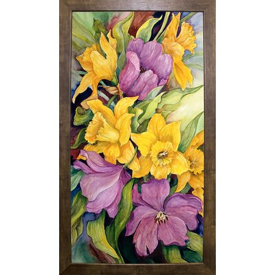 'Tulips And Daffodils' Print Format: Cafe Mocha Framed Paper