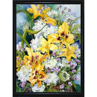 'Wild Flowers And Daylilies' Print Format: Flat Back Metal Framed