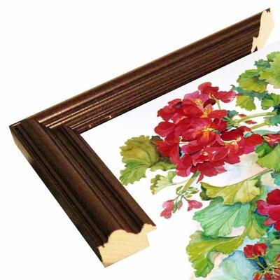 'Deep Red Geraniums' Print Format: Cherry Wood Grande Framed Paper