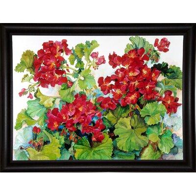 'Deep Red Geraniums' Print Format: Bistro Expresso Framed Paper