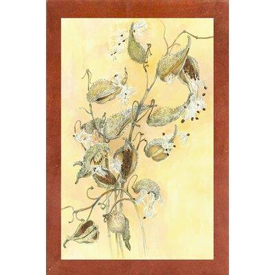 'Milkweed' Graphic Art Print Format: Canadian Walnut Wood Medium Framed Paper