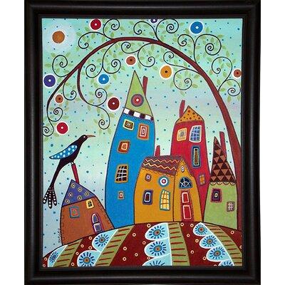 'Swirl Tree Bird and Houses' Print Format: Paper WNPR8753 43161564
