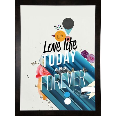 'Everything Forever' Graphic Art Print Format: Affordable Black Medium Framed Paper