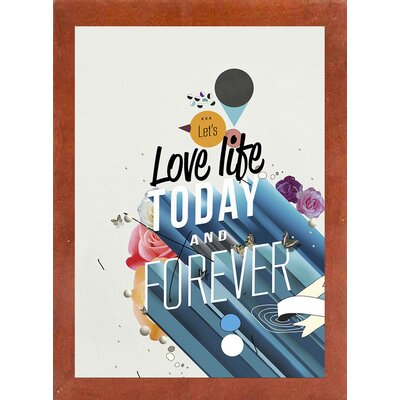 'Everything Forever' Graphic Art Print Format: Affordable Canadian Walnut Medium Framed Paper