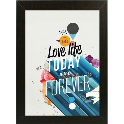'Everything Forever' Graphic Art Print Format: Affordable Brazilian Walnut Medium Framed Paper