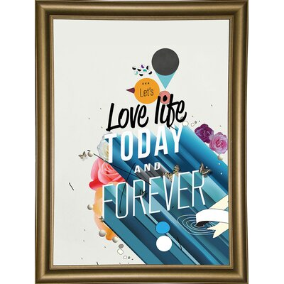 'Everything Forever' Graphic Art Print Format: Bistro Gold Framed Paper