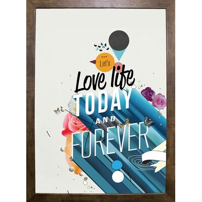 'Everything Forever' Graphic Art Print Format: Cafe Mocha Framed Paper
