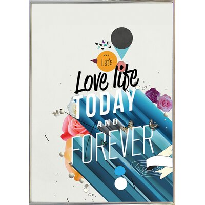 'Everything Forever' Graphic Art Print Format: Silver Metal Framed Paper