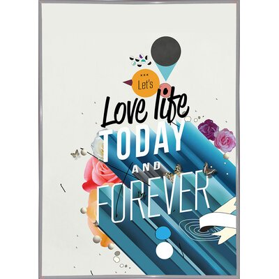 'Everything Forever' Graphic Art Print Format: White Metal Framed Paper