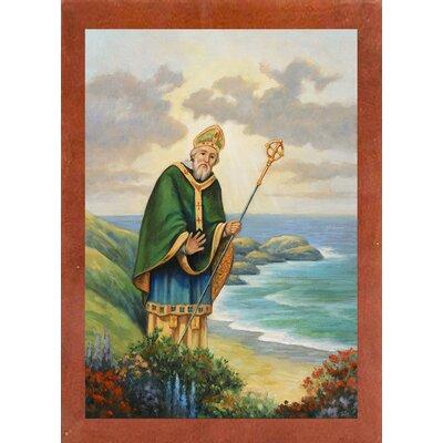 'St. Patrick' Graphic Art Print Format: Canadian Walnut Wood Medium Framed Paper