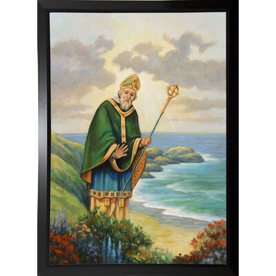 'St. Patrick' Graphic Art Print Format: Black Plastic Framed Paper