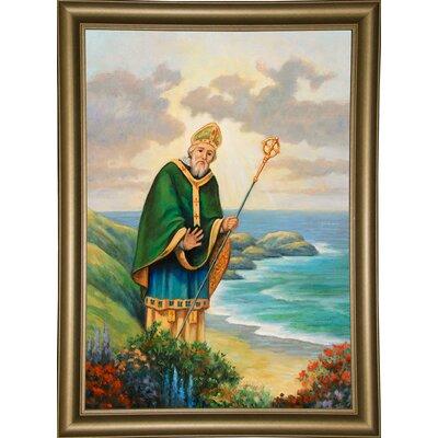 'St. Patrick' Graphic Art Print Format: Bistro Gold Framed Paper