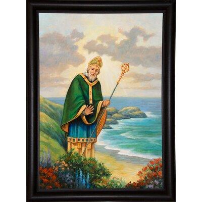 'St. Patrick' Graphic Art Print Format: Bistro Expresso Framed Paper