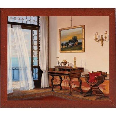 'Seabreeze' Graphic Art Print Format: Red Mahogany Wood Medium Framed Paper