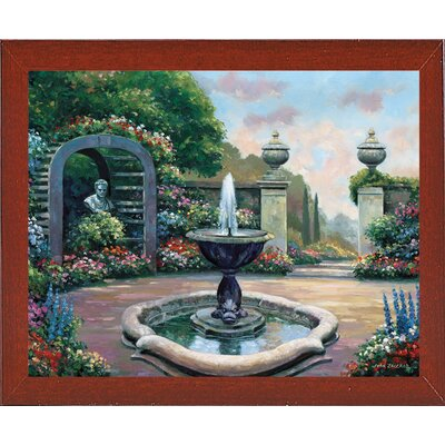 'Renaissance Garden' Graphic Art Print Format: Red Mahogany Wood Medium Framed Paper