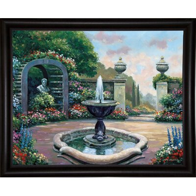 'Renaissance Garden' Graphic Art Print Format: Bistro Expresso Framed Paper