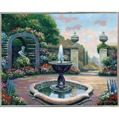 'Renaissance Garden' Graphic Art Print Format: Silver Metal Framed
