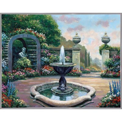 'Renaissance Garden' Graphic Art Print Format: White Metal Framed