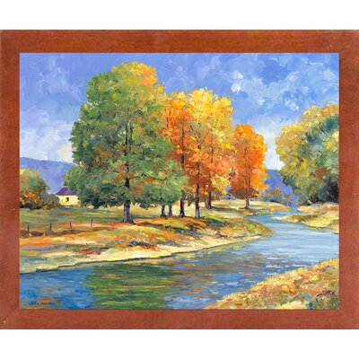 'New England Autumn' Graphic Art Print Format: Canadian Walnut Wood Medium Framed Paper