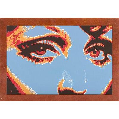 'Captivating Eyes' Graphic Art Print Format: Canadian Walnut Wood Medium Framed Paper