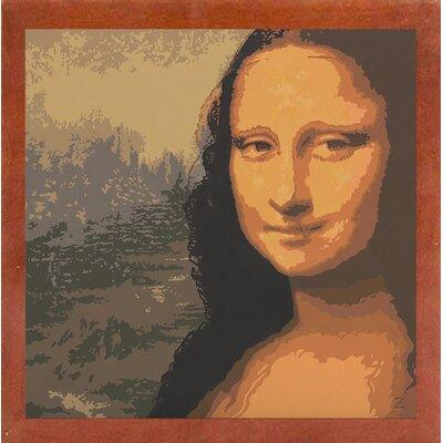 'Mona Liza' Graphic Art Print Format: Canadian Walnut Wood Medium Framed Paper