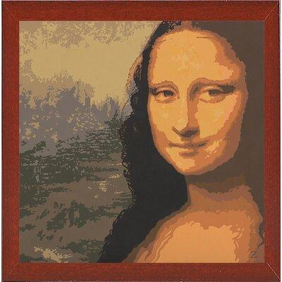 'Mona Liza' Graphic Art Print Format: Red Mahogany Wood Medium Framed Paper
