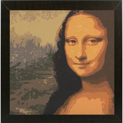 'Mona Liza' Graphic Art Print Format: Brazilian Walnut Wood Medium Framed Paper