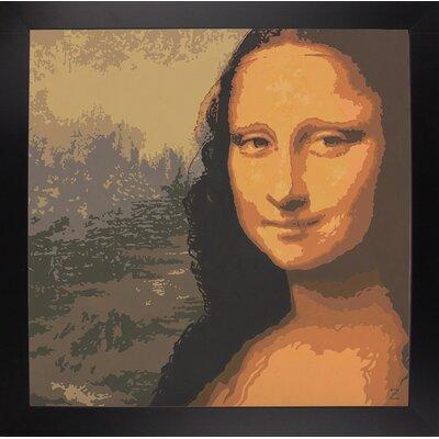'Mona Liza' Graphic Art Print Format: Black Wood Large Framed Paper