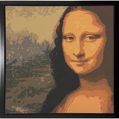 'Mona Liza' Graphic Art Print Format: Black Plastic Framed Paper