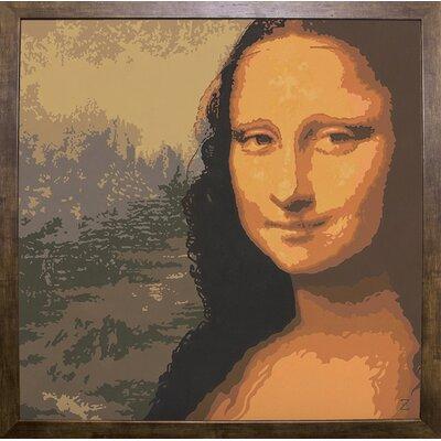 'Mona Liza' Graphic Art Print Format: Cafe Mocha Framed Paper