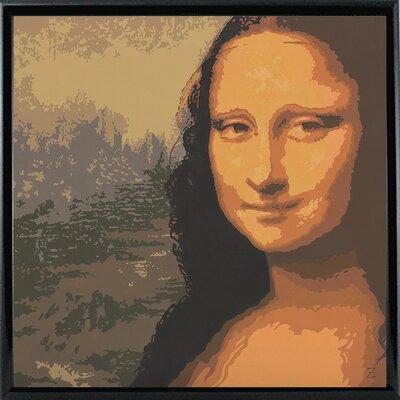 'Mona Liza' Graphic Art Print Format: Black Metal Framed Paper