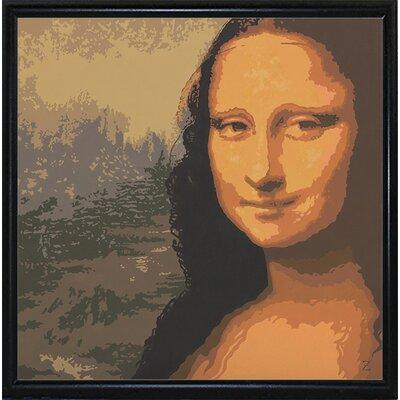 'Mona Liza' Graphic Art Print Format: Black Metal Flat Framed Paper