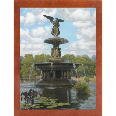 'The Fountain' Graphic Art Print Format: Canadian Walnut Wood Medium Framed Paper