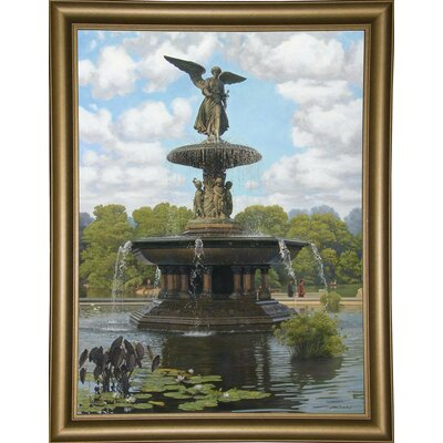 Image of 'The Fountain' Graphic Art Print Format: Bistro Gold Framed Paper