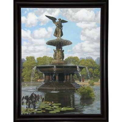 Image of 'The Fountain' Graphic Art Print Format: Bistro Expresso Framed Paper