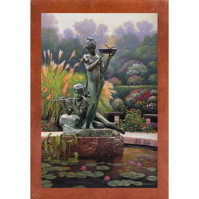 'The Fountain II' Graphic Art Print Format: Canadian Walnut Wood Medium Framed Paper