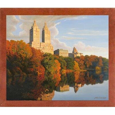 'Autumn in Central Park' Print Format: Canadian Walnut Wood Medium Framed Paper