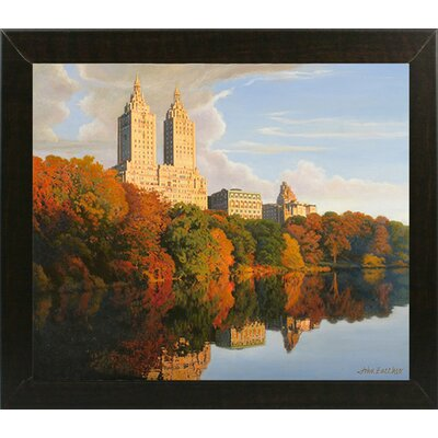 'Autumn in Central Park' Print Format: Brazilian Walnut Wood Medium Framed Paper