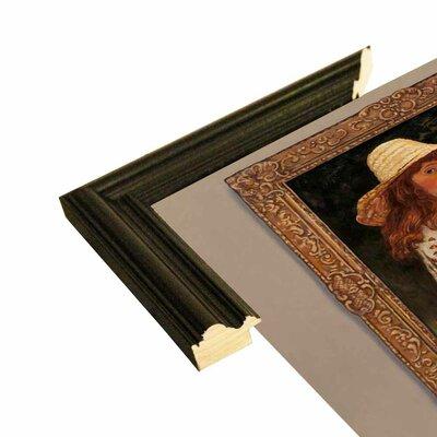 'Girl In Museum' Graphic Art Print Format: Black Wood Grande Framed Paper