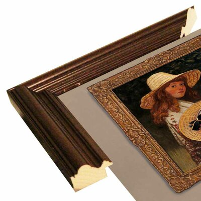 'Girl In Museum' Graphic Art Print Format: Cherry Wood Grande Framed Paper