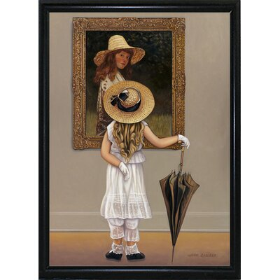 'Girl In Museum' Graphic Art Print Format: Flat Back Metal Framed