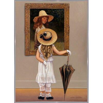 'Girl In Museum' Graphic Art Print Format: White Metal Framed