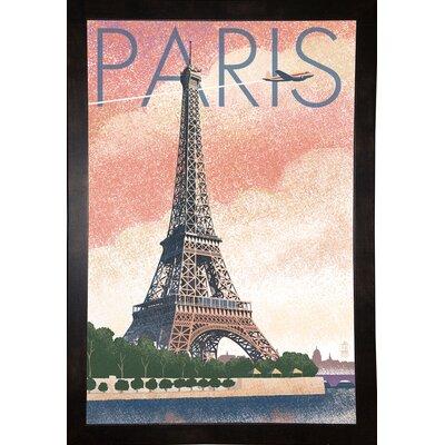 '50526' Graphic Art Print Format: Black Wood Medium Framed Paper