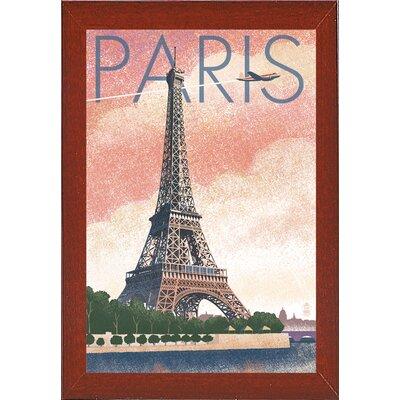 '50526' Graphic Art Print Format: Red Mahogany Wood Medium Framed Paper