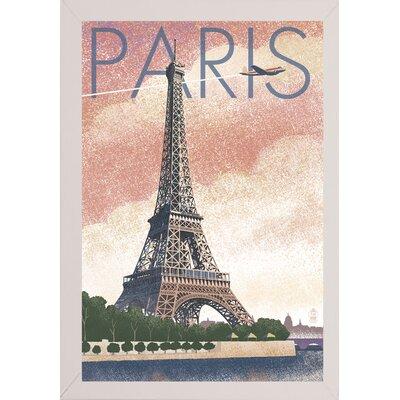 '50526' Graphic Art Print Format: White Wood Medium Framed Paper