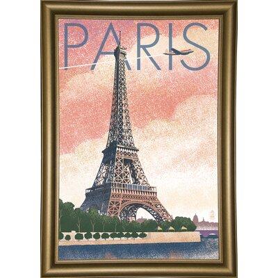 '50526' Graphic Art Print Format: Bistro Gold Framed Paper
